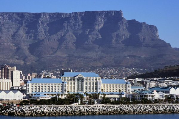 The Table Bay Hotel with Table Mountain