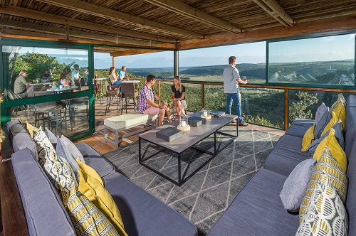 Inside the Kariega Viewing Platform